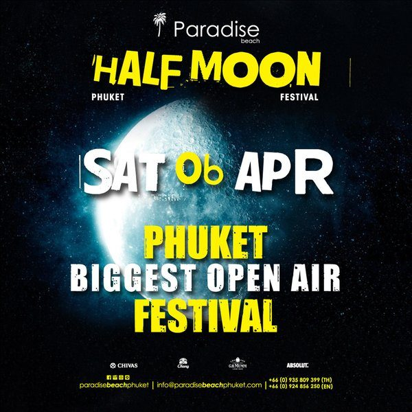 2019 04 06 Half Moon Party Thailand Phuket Square