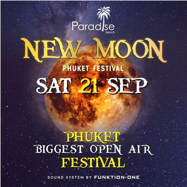 New Moon September 2019 New Moon Party Ticket @ 21 September 2019 – Paradise Beach