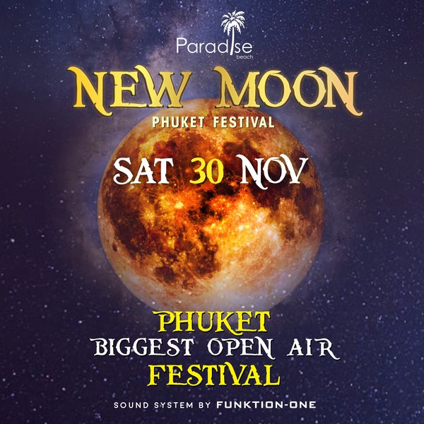 New Moon November 2019 New Moon Party Ticket @ 30 November 2019 – Paradise Beach